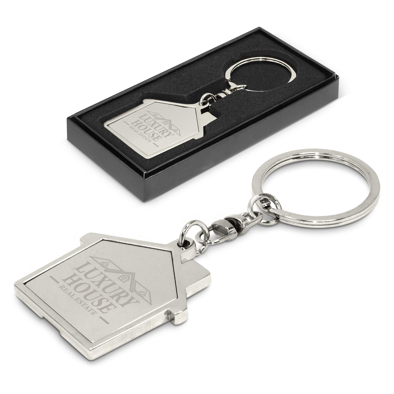 House Metal Key Ring