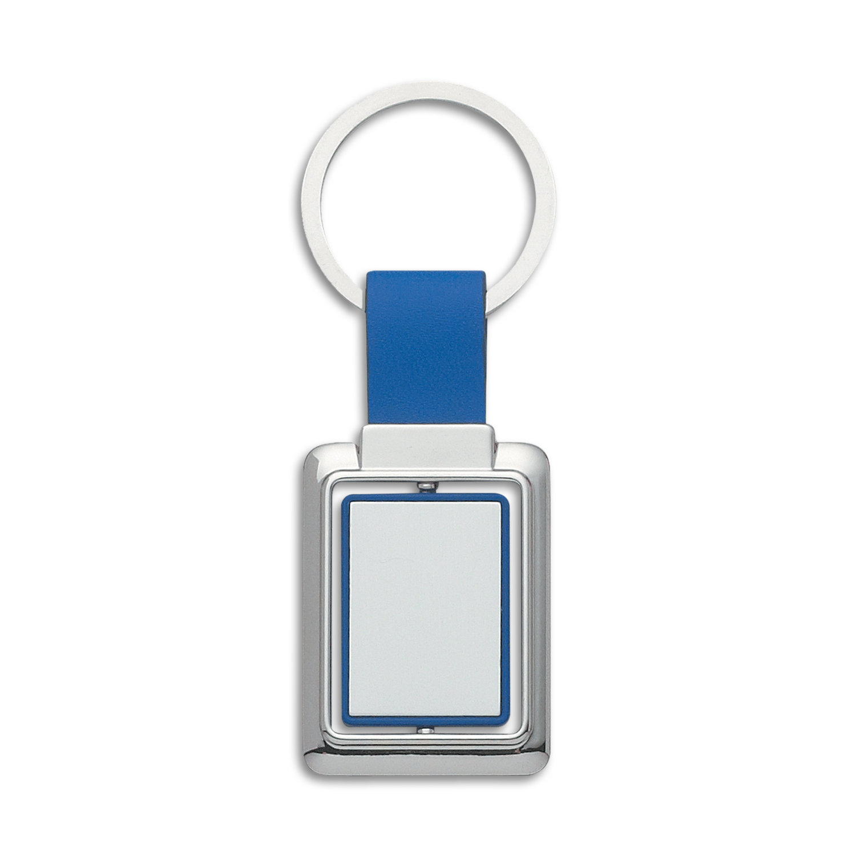Rectangle Metal Spinner Key Ring