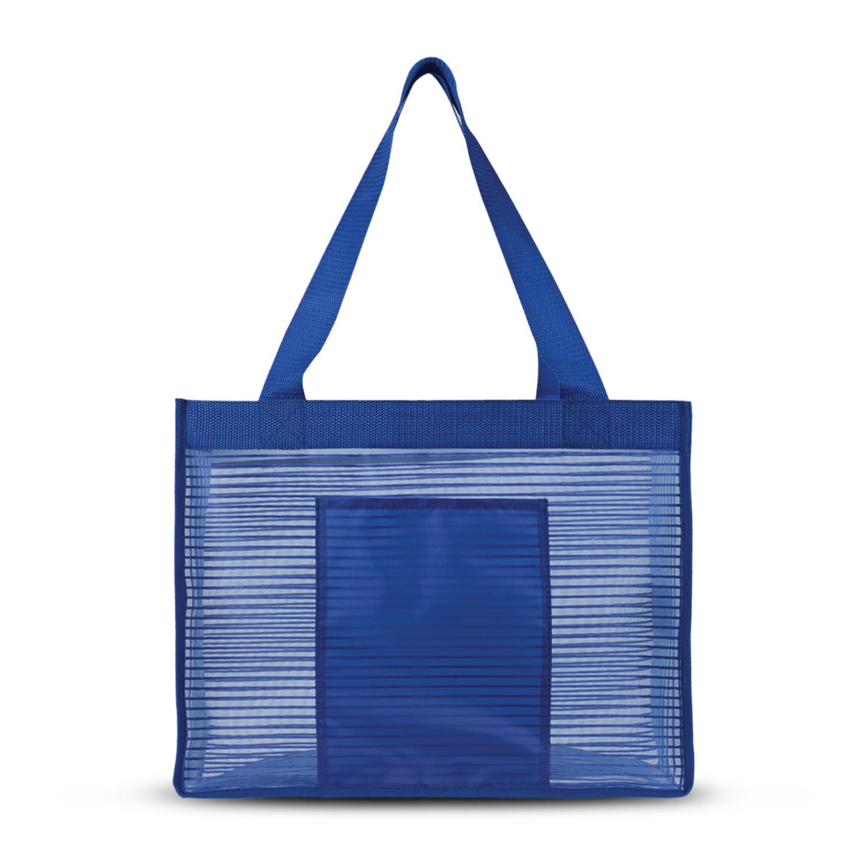 Sheer Striped Tote Bag
