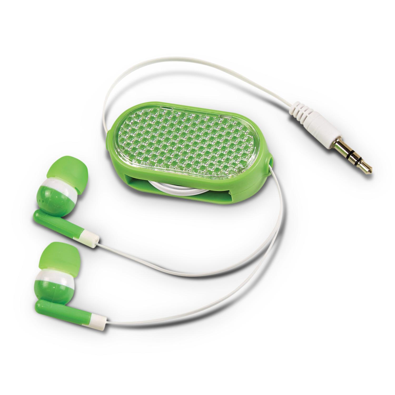 Retractable Reflective Earbuds