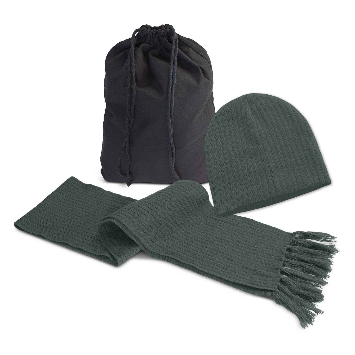 Nebraska Scarf and Beanie Set