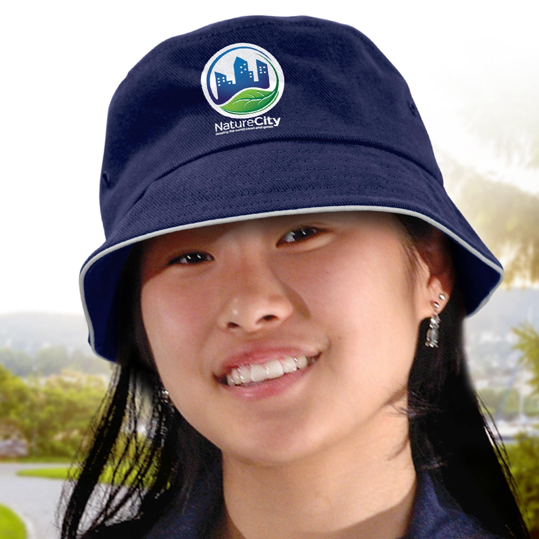 Bondi Premium Bucket Hat - White Sandwich Trim