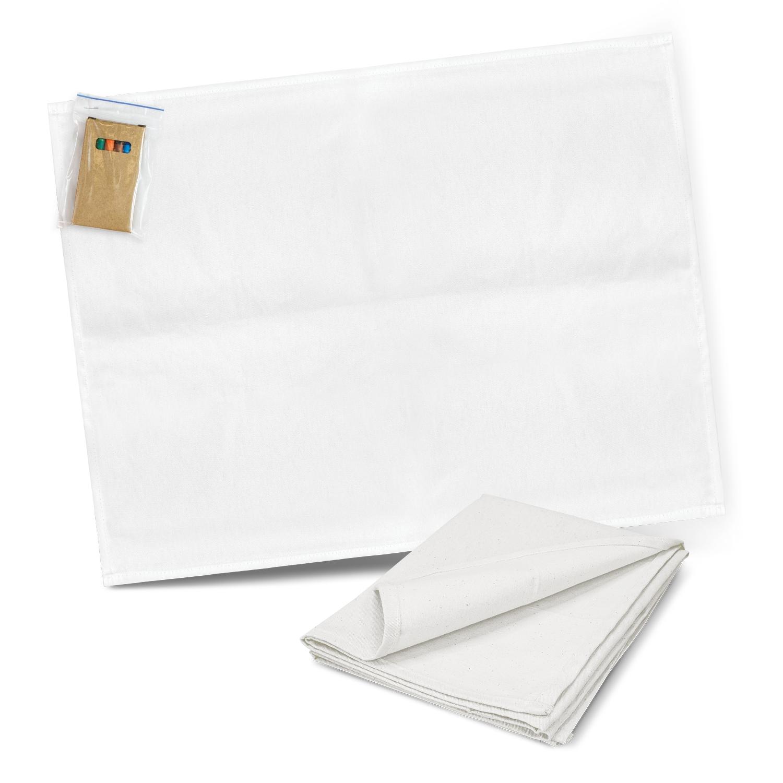Cotton Colouring Tea Towel