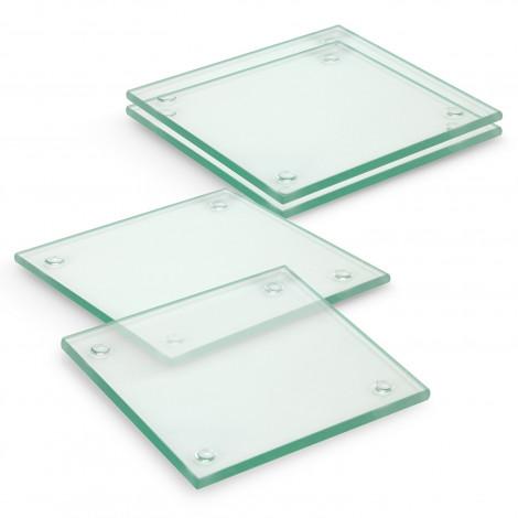 Venice Glass Coaster Set of 4 Square - Full Colour